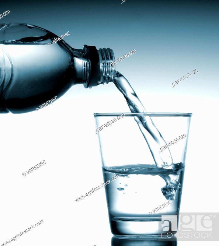 Stock Photo: Liquid, water, bottle.