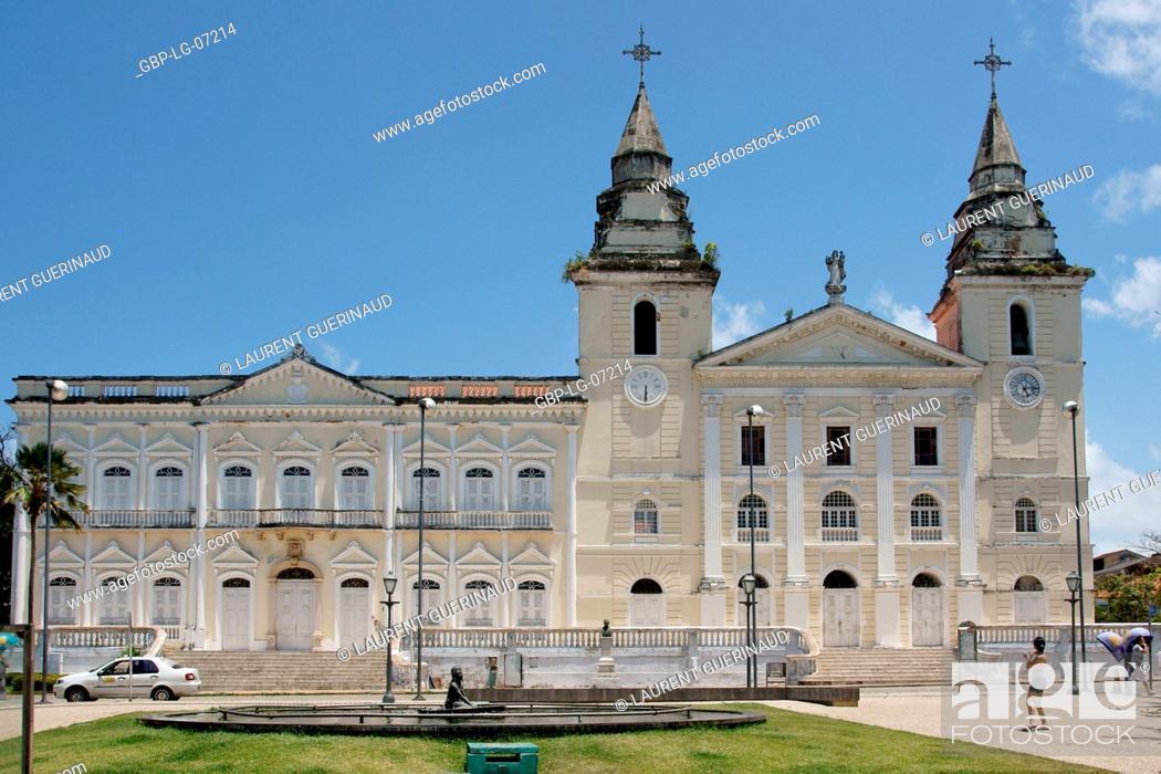 Stock Photo: Cathedral, Mother church Cathedral, Nossa Senhora da Vitória, historical Center, City, São Luis do Maranhão, Brazil.