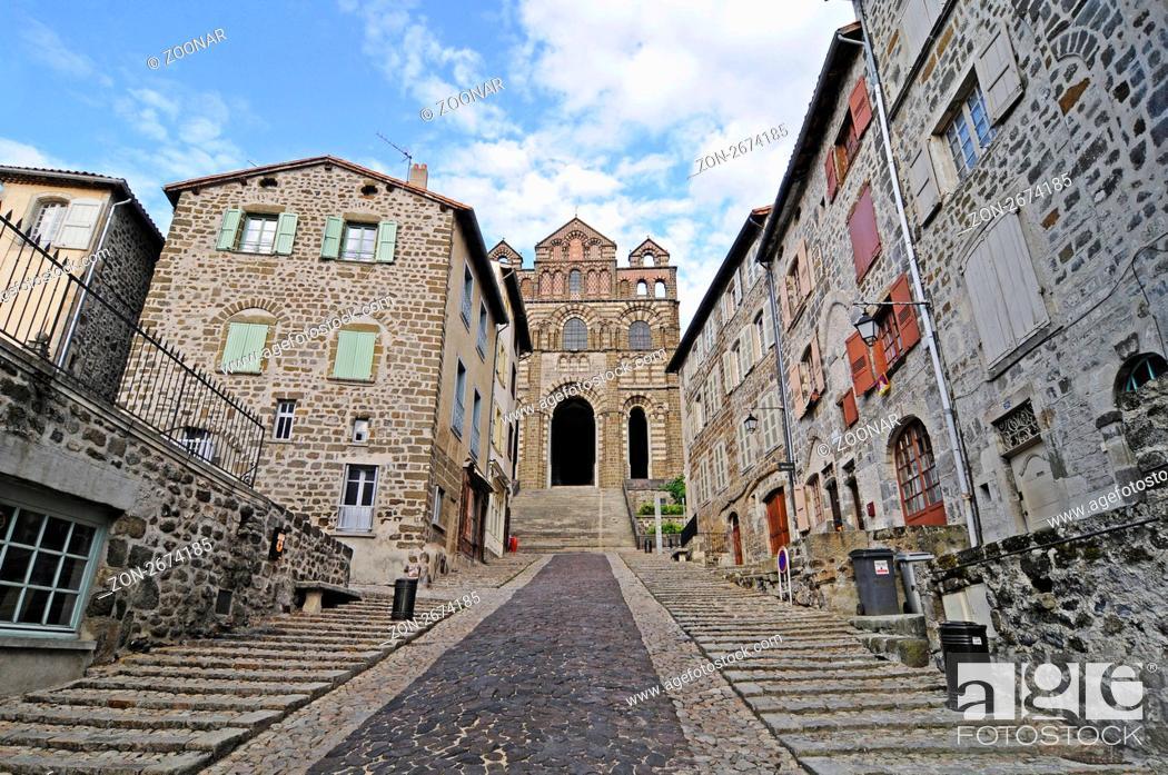 Stock Photo: Cathedral, Le Puy-en-Velay, Auvergne Region, France, Europe, Kathedrale, Le Puy-en-Velay, Region Auvergne, Frankreich, Europa.