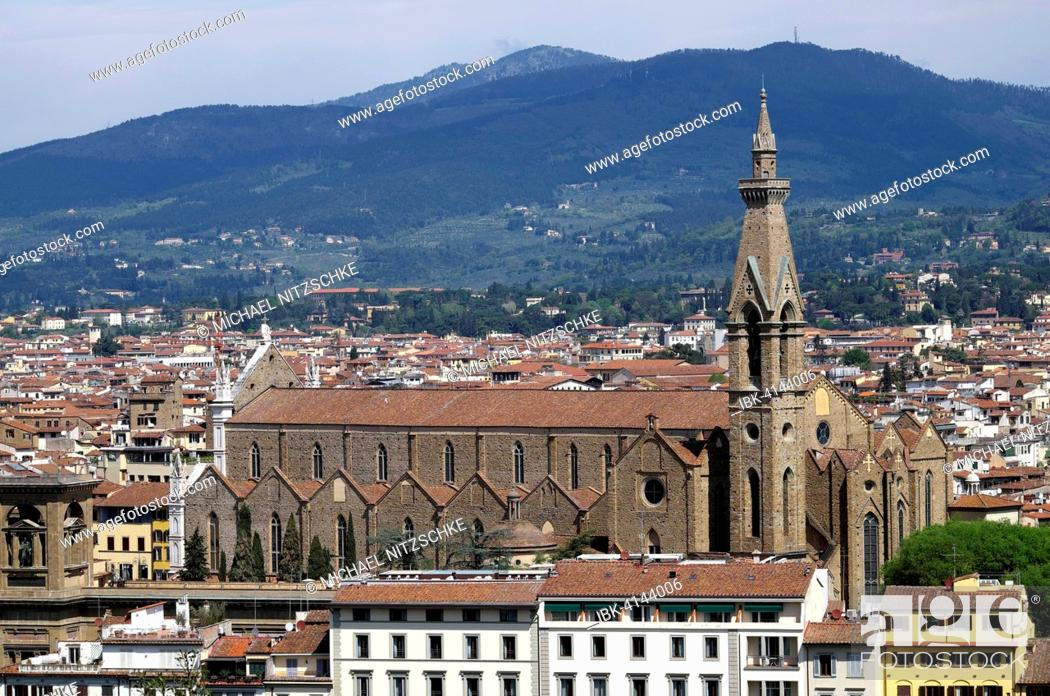Stock Photo: Cityscape with Santa Croce, Florence, Tuscany, Italy.