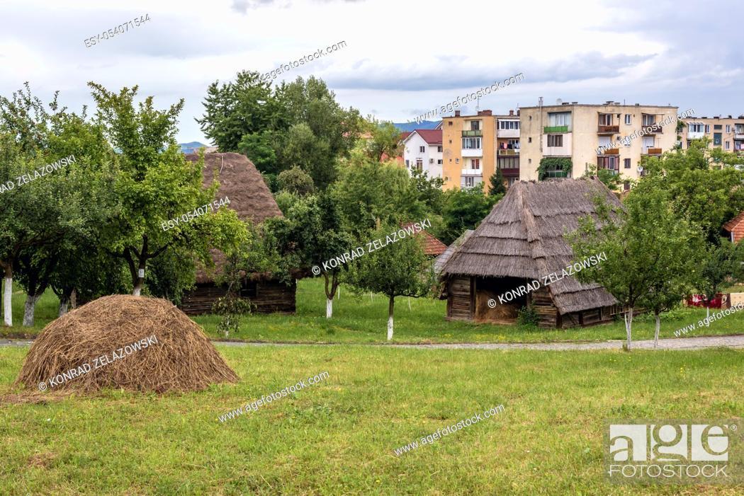 Stock Photo: Oas Village Museum located in Negresti-Oas town in the county of Satu Mare in northwestern Romania.