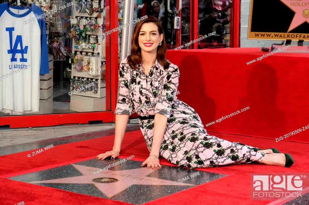 Stock Photo: May 9, 2019 - Los Angeles, California, U.S - Actress Anne Hathaway attends her star ceremony on the Hollywood Walk of Fame in the Category of Motion Pictures.