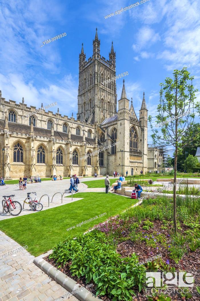 Stock Photo: Gloucester Cathedral, Glucestershire, England, United Kingdom, Europe.