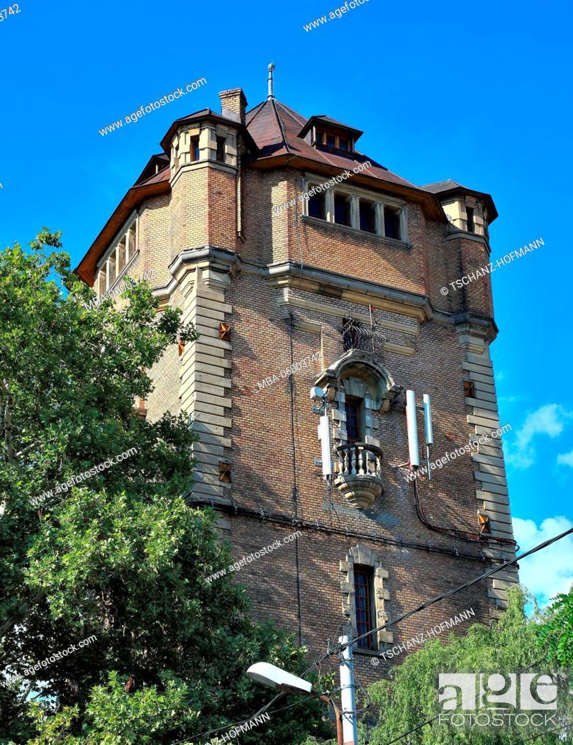Stock Photo: Romania, Banat, city of Arad, city centre, historical old water tower.