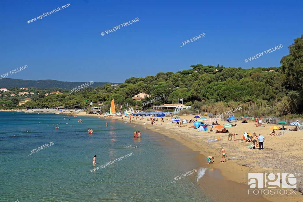 Stock Photo: Gigaro beach around La Croix Valmer, Var, Côte d'Azur, French Riviera, France.