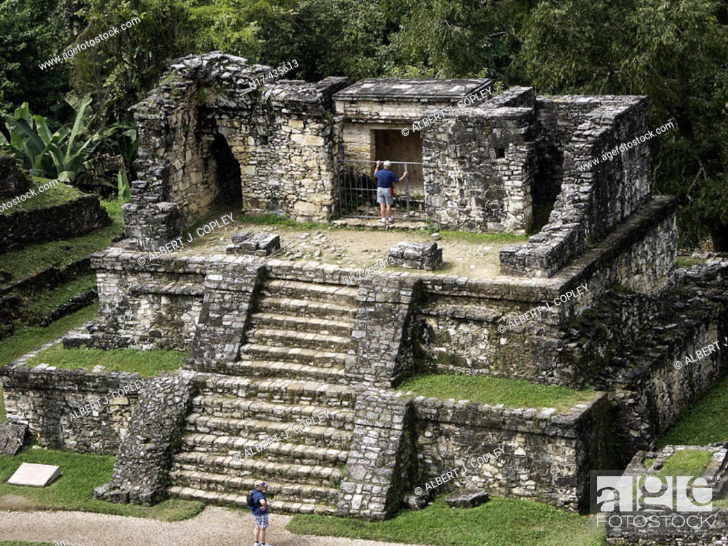 Stock Photo: Palenque, Maya archeological site (600 - 800 A.D.). Chiapas, Mexico.