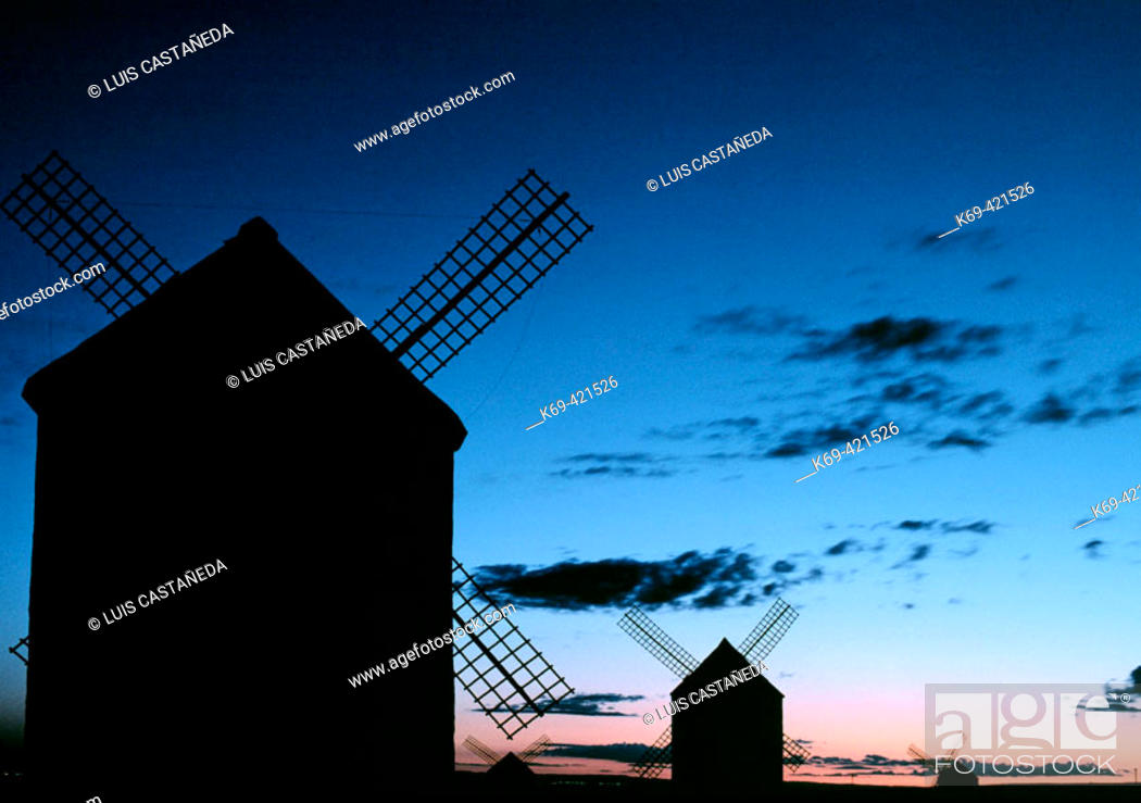 Stock Photo: Windmills of La Mancha. Campo de Criptana (Ciudad Real) Spain.