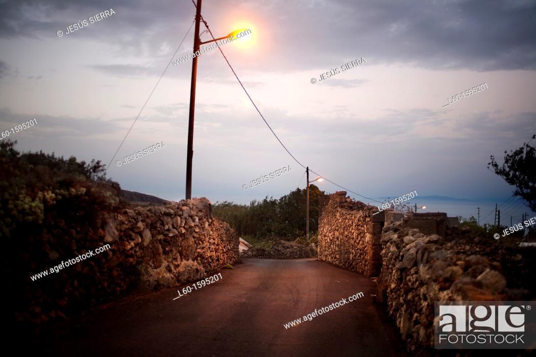 Stock Photo: Road in El Hierro, Canary Islands, Spain.