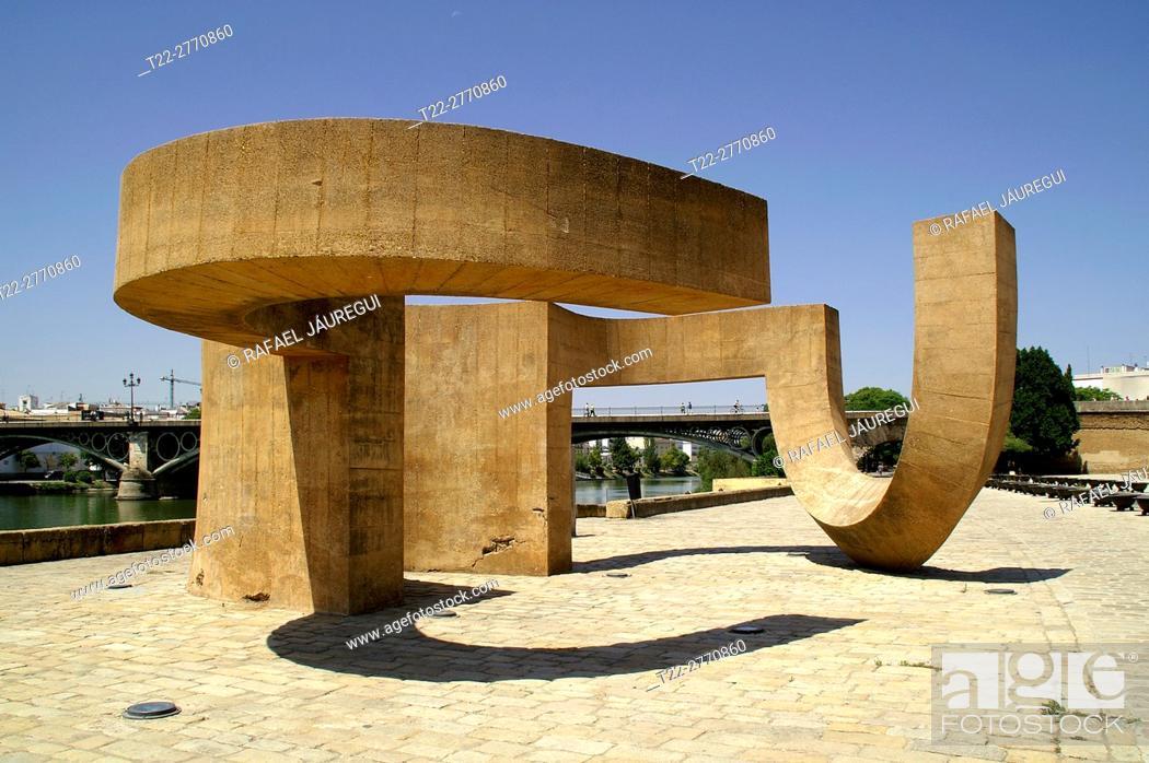 Stock Photo: Sevilla (Spain). Monument to the tolerance of Eduardo Chillida in the city of Seville.