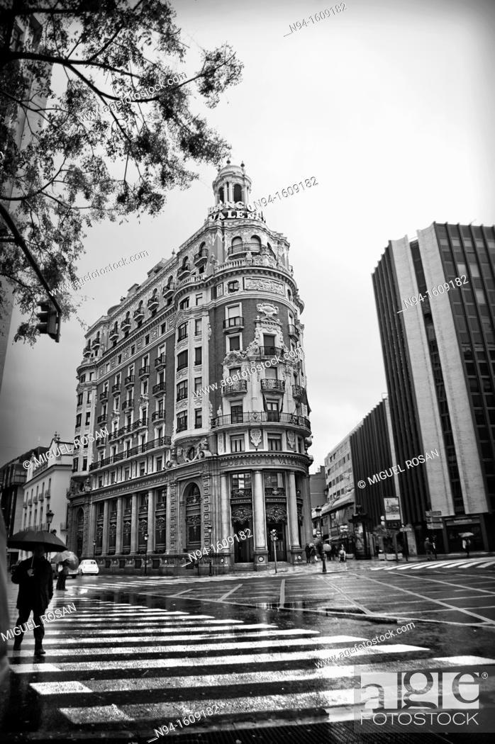 Stock Photo: Valencia Bank building in the city of Valencia, Valencia, Spain.