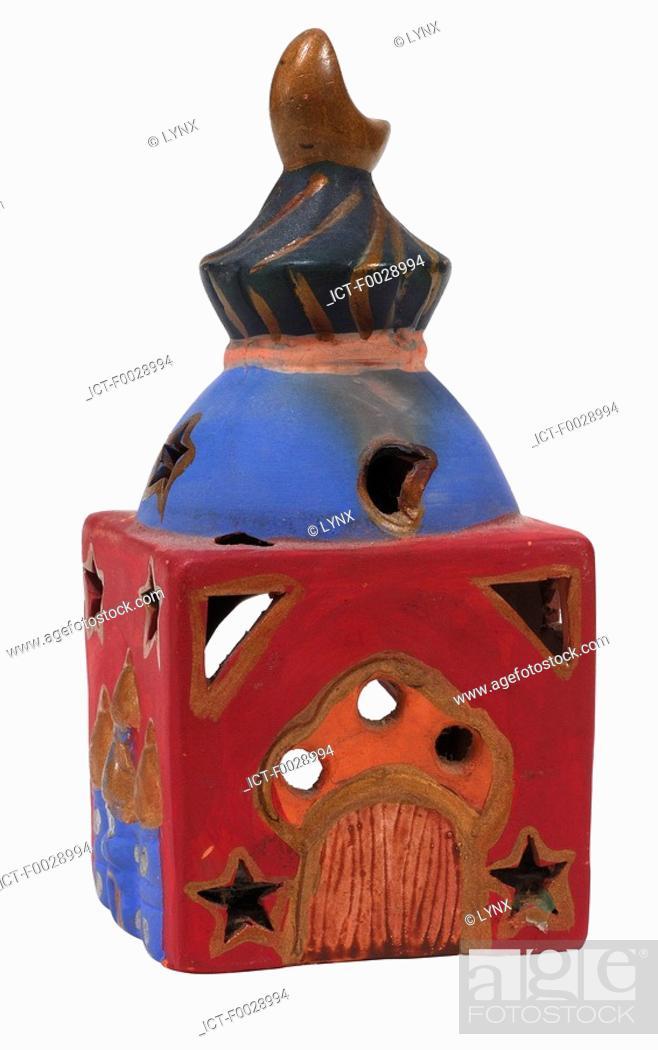 Stock Photo: World symbols: Candle holder India.