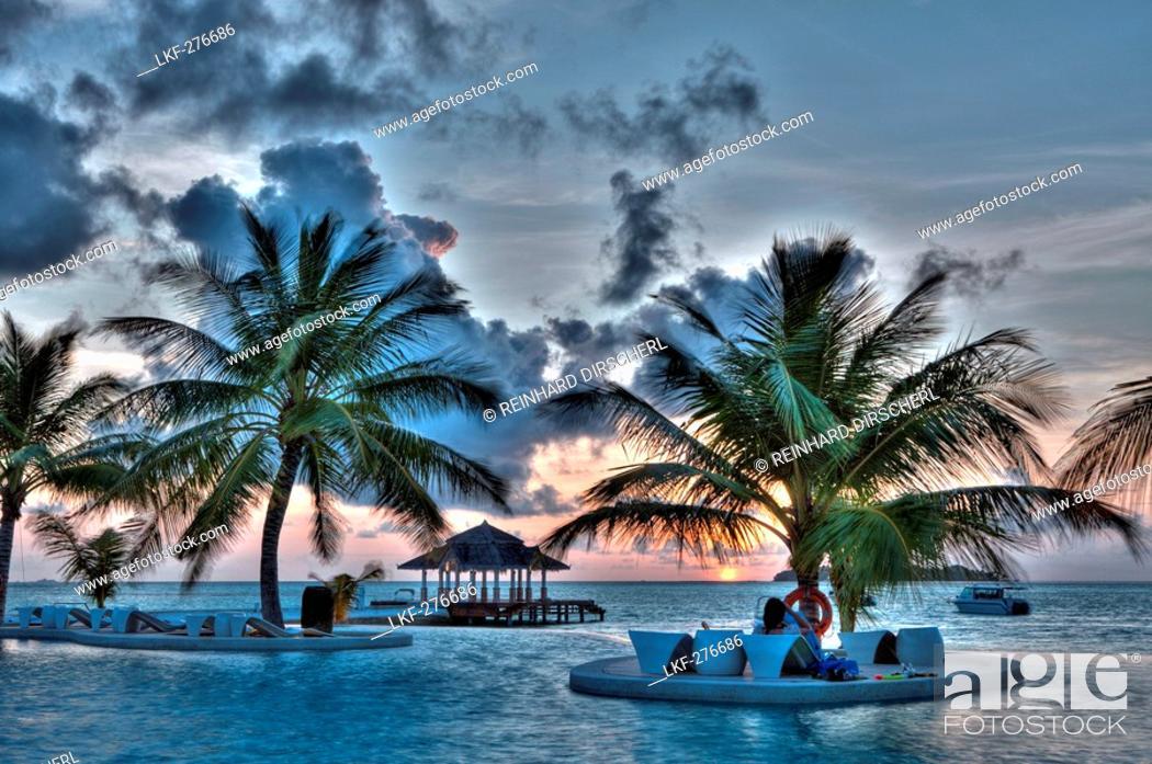 Stock Photo: Pool of Maldive Island Kandooma, Maldives, South Male Atoll.