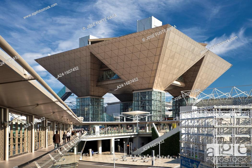 Stock Photo: Big Sight Building, Odaiba district, Tokyo, Japan.
