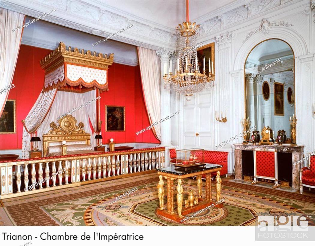 Stock Photo: Palace of Versailles - Trianon - Chambre de l'Imperatrice.