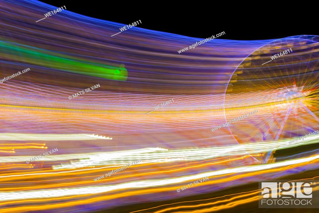Stock Photo: Ferris Wheel in Motion in Nice, France.