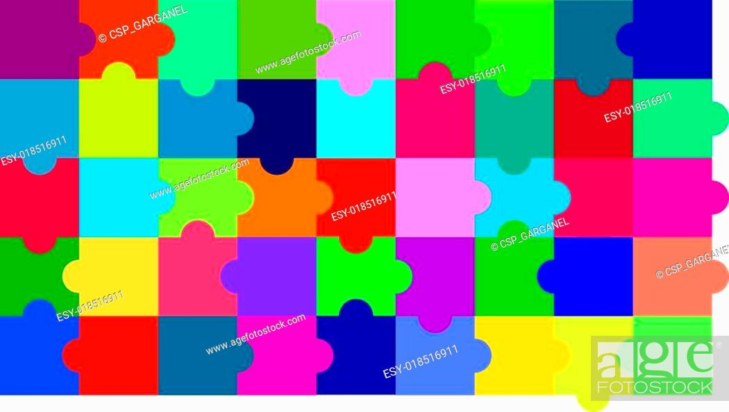 Stock Vector: Puzzle background.