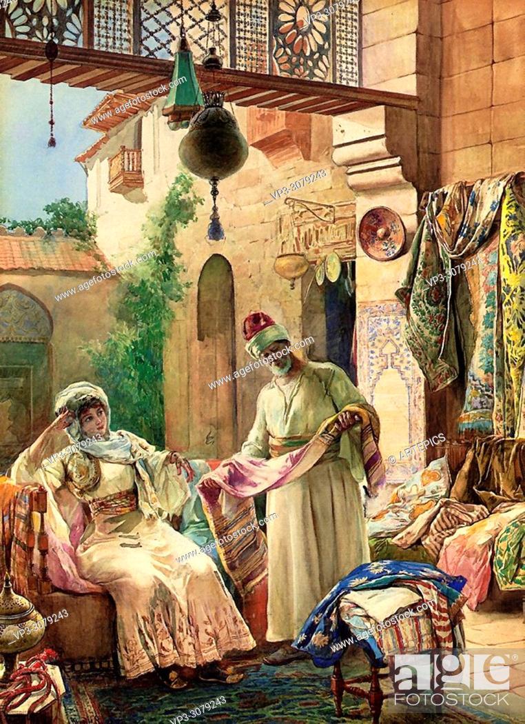 Stock Photo: Simonetti Amedeo Momo - Presenting His Finest Fabrics.