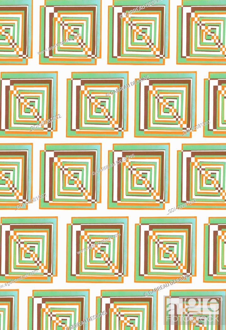 Imagen: Repeating square design.