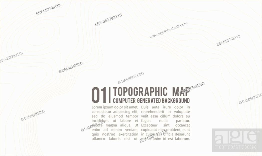 Stock Vector: Topographic map background with space for copy. Line topography map contour background, geographic grid abstract vector illustration.