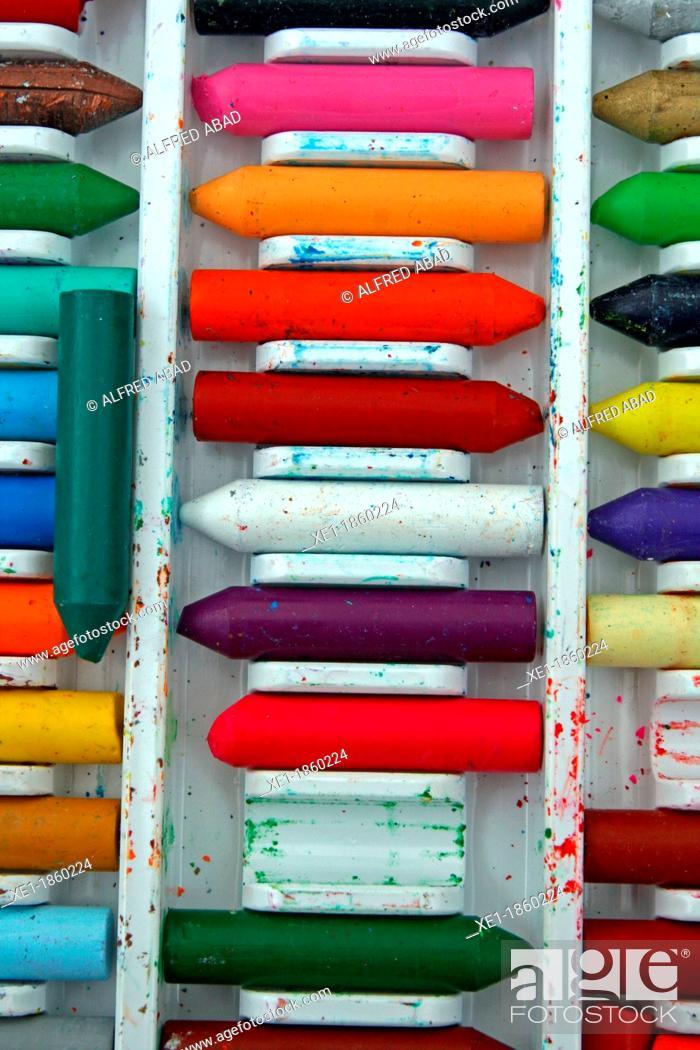 Stock Photo: Crayons.