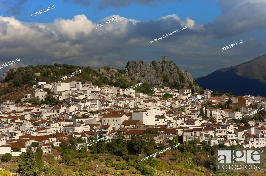 Stock Photo: Panoramic view, Gaucin, Malaga province, Region of Andalusia, Spain, Europe.