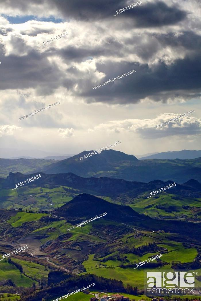 Stock Photo: View From San Marino.