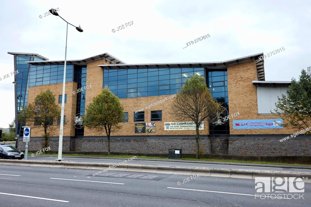 Stock Photo: Ty Llewellyn army reserve barracks Cardiff Wales United Kingdom.