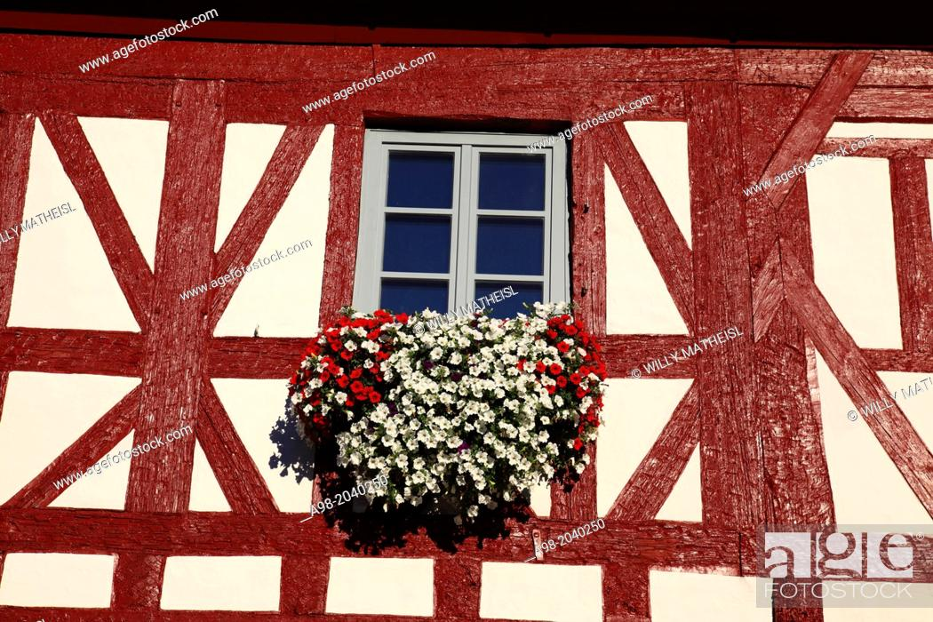 Imagen: half-timbered Rathaus Hilpoltstein, Hilpoltstein, Middle Franconia, Franconia, Bavaria, Germany.