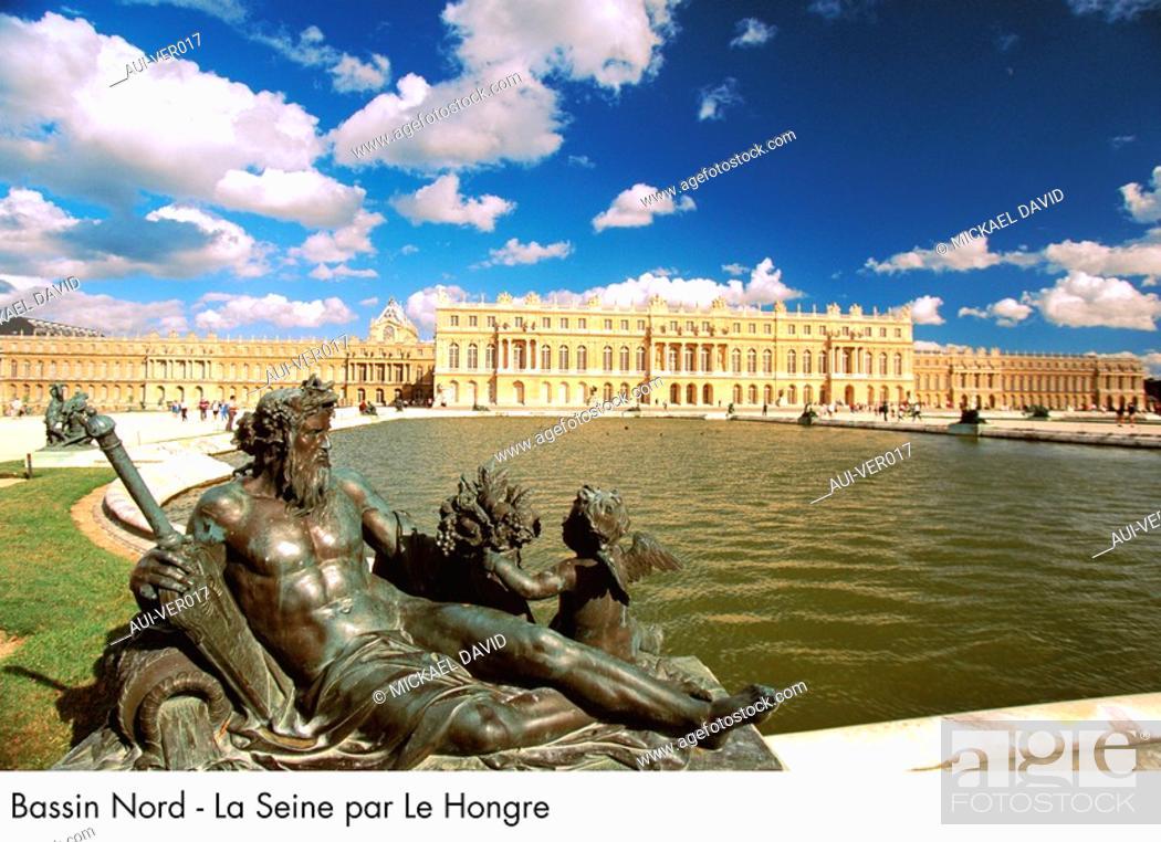 Stock Photo: Palace of Versailles - Bassin Nord - La Seine par Le Hongre.