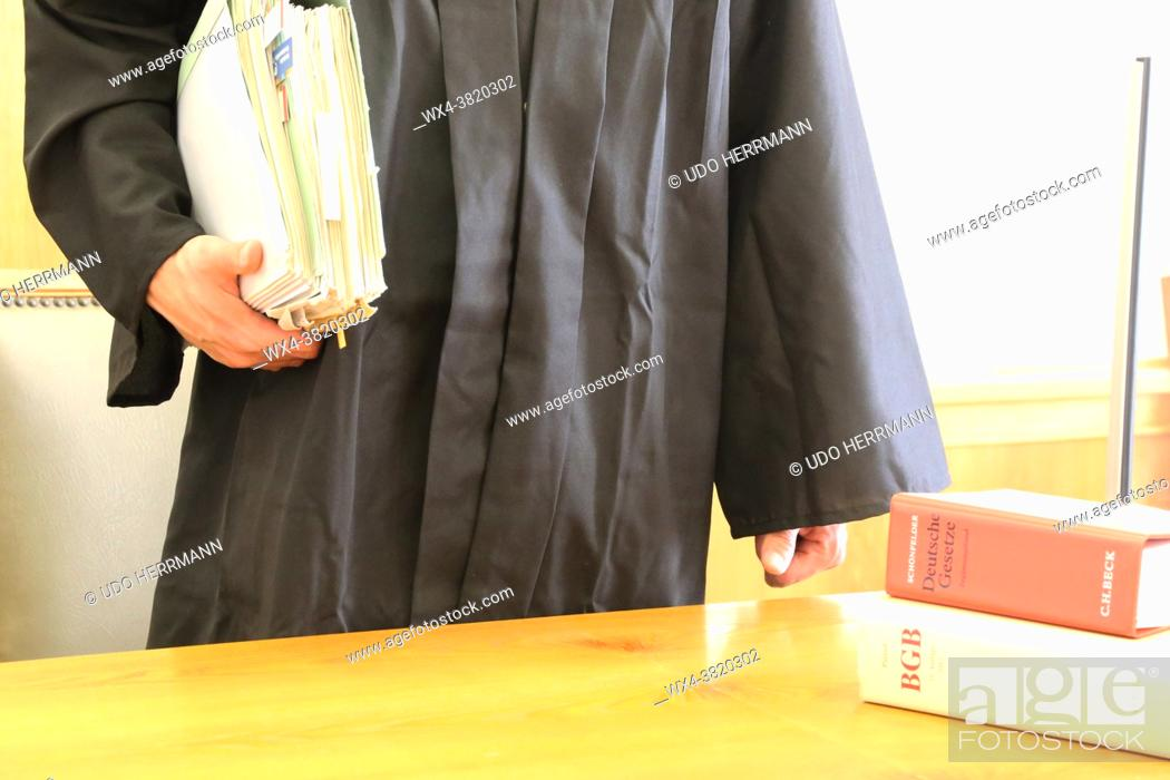 Stock Photo: Symbol image of a court hearing in Germany.