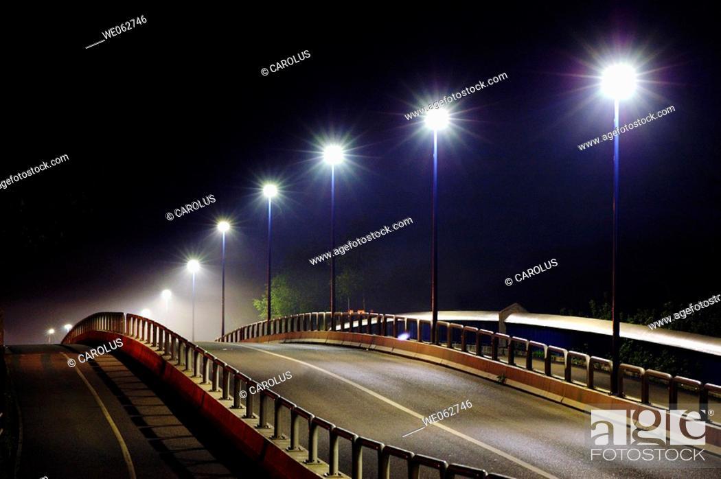 Stock Photo: Public lighting, Lunéville, Meurthe-et-Moselle. Lorraine, France.