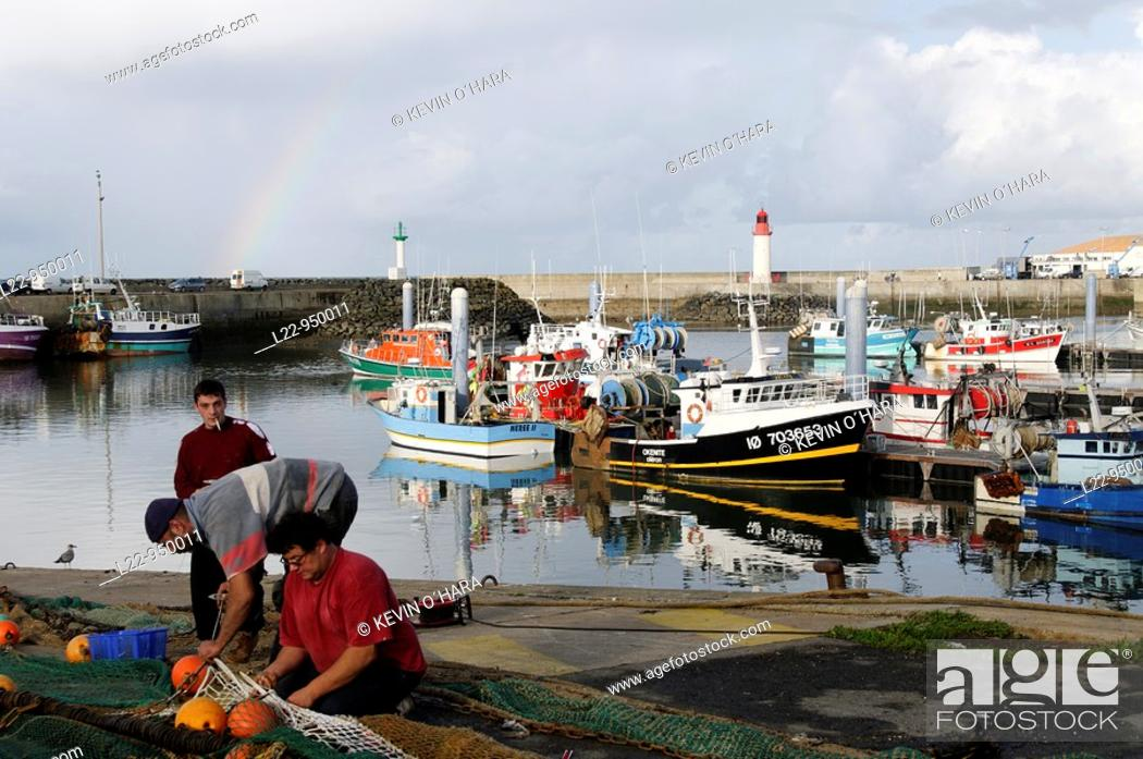 Stock Photo: Fishing port of La Cotinière. Saint-Pierre Village. Island of Oleron. Charente Maritime. France.