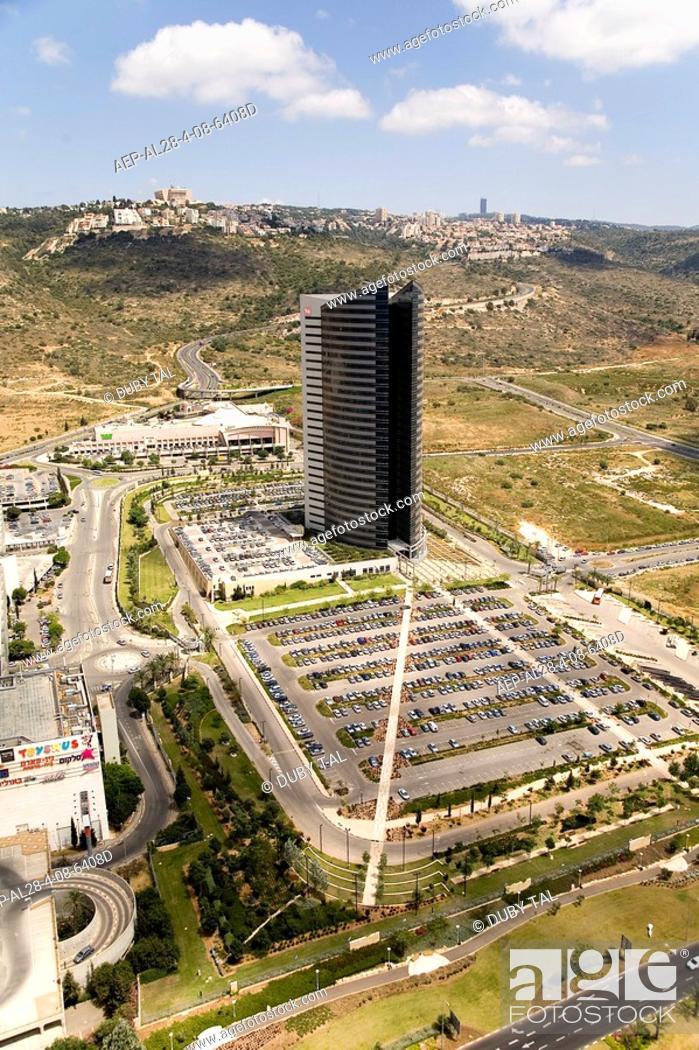 Aerial Photograph Of The Southern Entrance Haifa Stock Photo