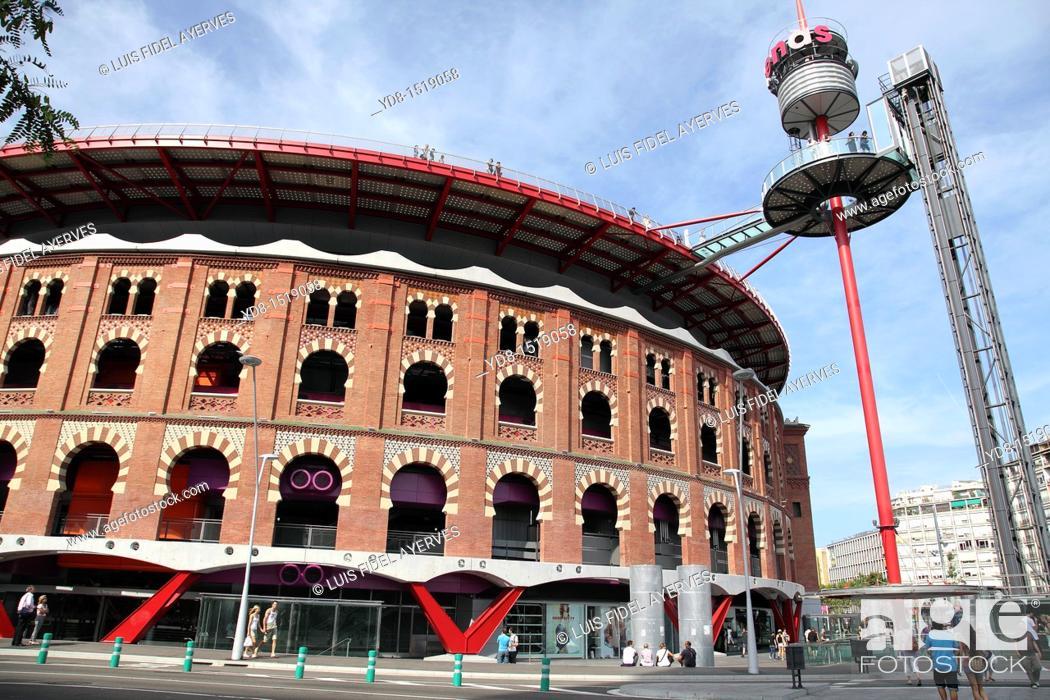 Stock Photo: Shopping center Las Arenas, Barcelona, Catalonia, Spain.