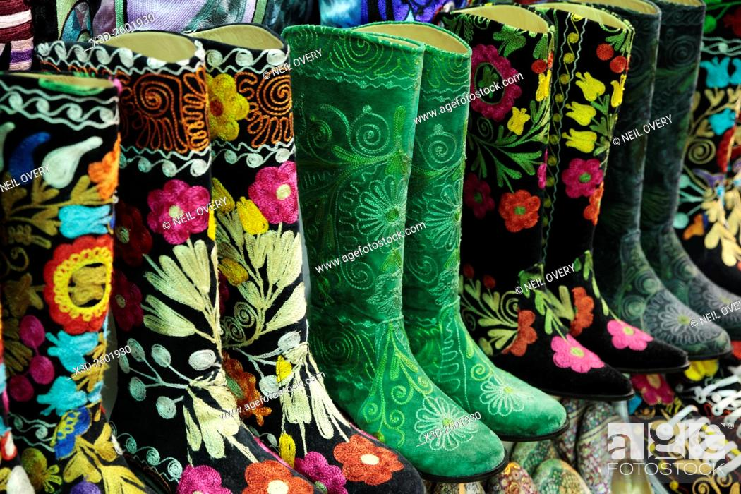 Stock Photo: Colorful Turkish Boot Sourvenirs in Istanbul, Turkey.
