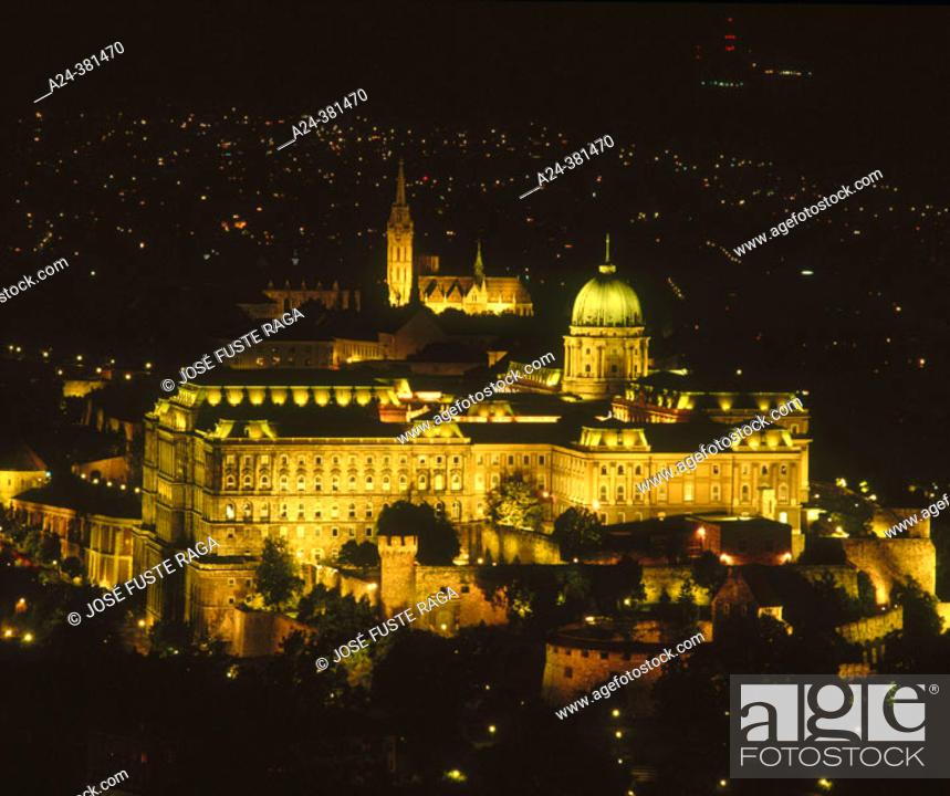Stock Photo: Royal Palace on Buda hill, Budapest. Hungary.