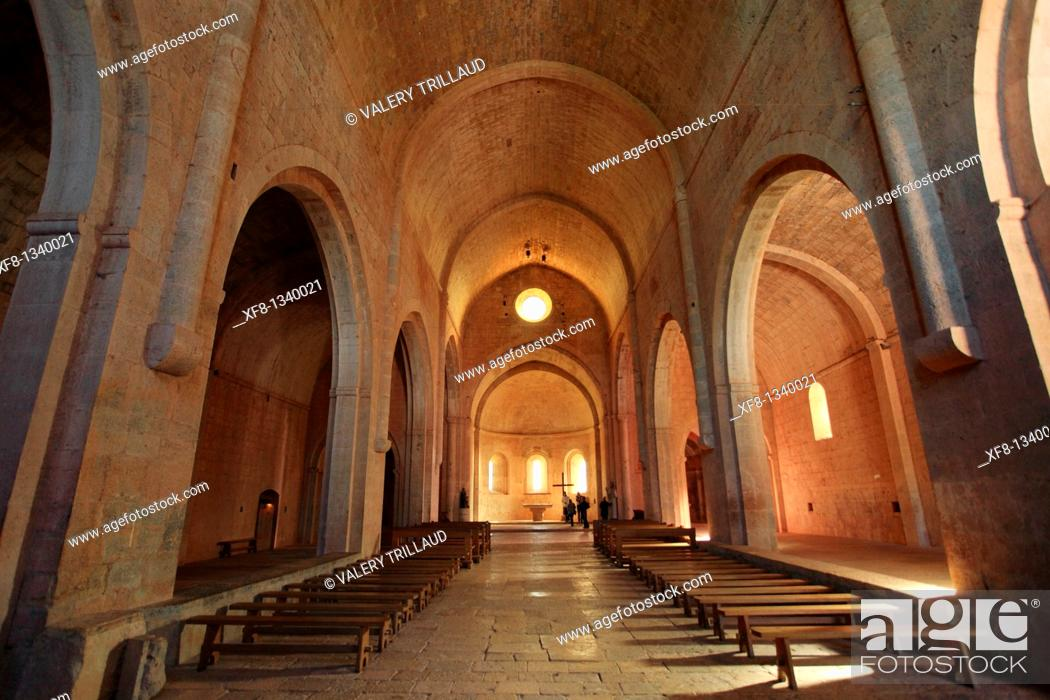 Stock Photo: The abbey of Thoronet, Le Thoronet, Var, 83, PACA, France.