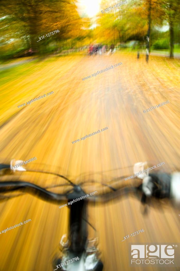 Stock Photo: Autumn bike ride, UK.