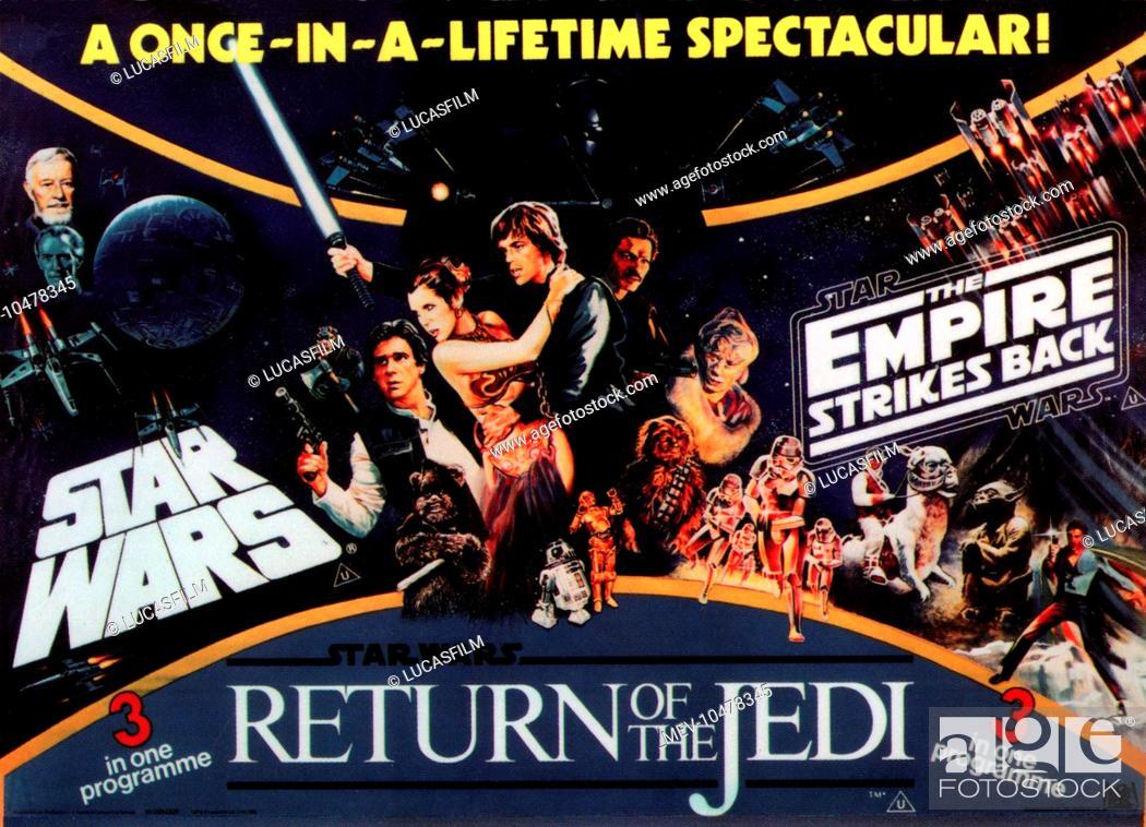 Stock Photo: STAR WARS TRILOGY STAR WARS: EPISODE IV - A NEW HOPE STAR WARS: EPISODE V - THE EMPIRE STRIKES BACK STAR WARS: EPISODE VI - RETURN OF THE JEDI [US 1983].