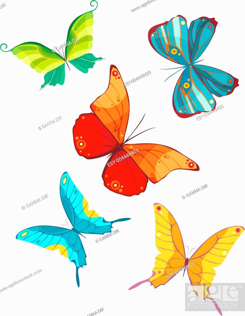 Stock Photo: butterfly set.