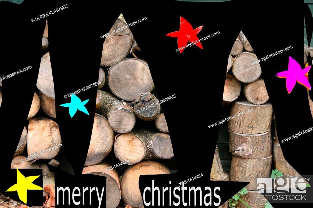 Stock Photo: abstract christmas-illustration.