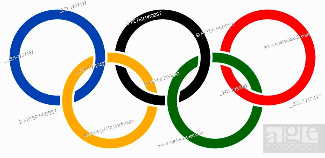 The Five Olympic Rings As A Symbol Of The Olympic Games Of The