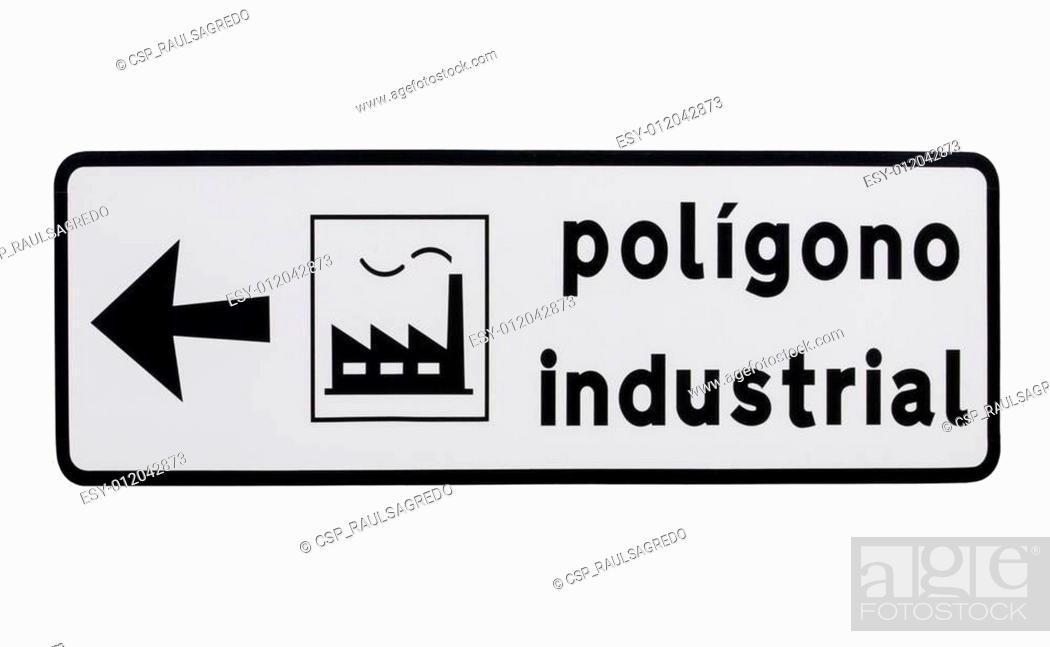 Imagen: Se?al poligono industrial.