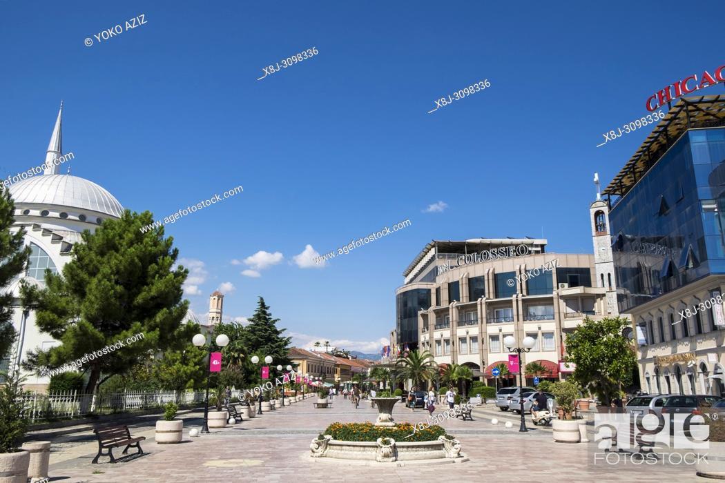 Stock Photo: Albania, Shkoder, old town, daily life.