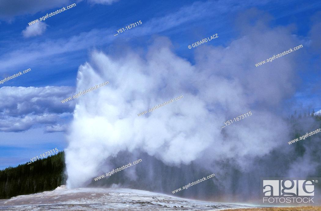 Stock Photo: Geyser in Yellowstone National Park, Wyoming.