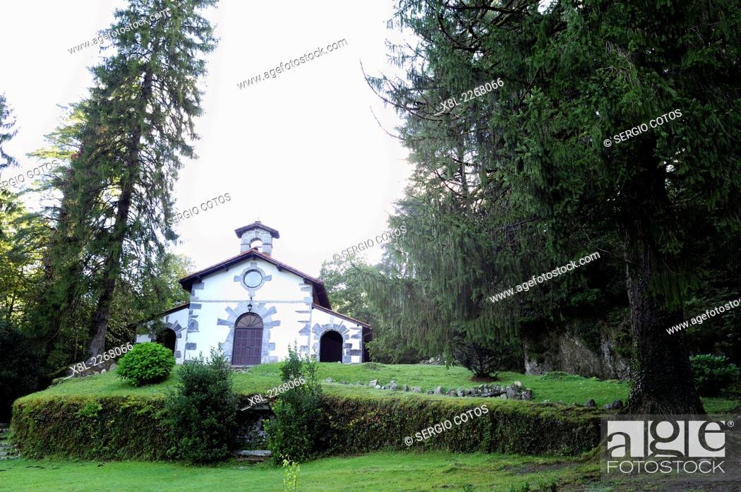 Stock Photo: hermitage Artikutza.