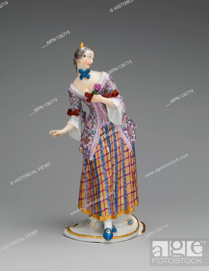 Stock Photo: Lucinda. Factory: Nymphenburg Porcelain Manufactory; Modeler: Franz Anton Bustelli (Swiss, Locarno ca. 1720-1763 Munich); Date: ca.