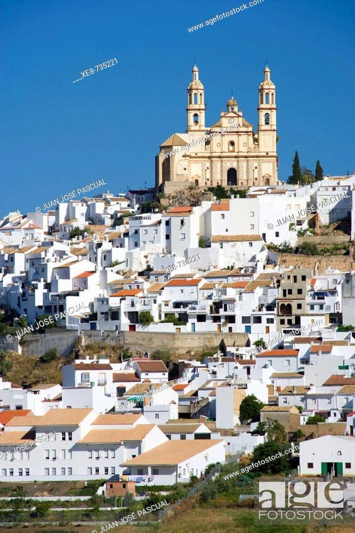 Stock Photo: Nuestra Señora de la Encarnacion church, Olvera. Cadiz province, Andalucia, Spain.