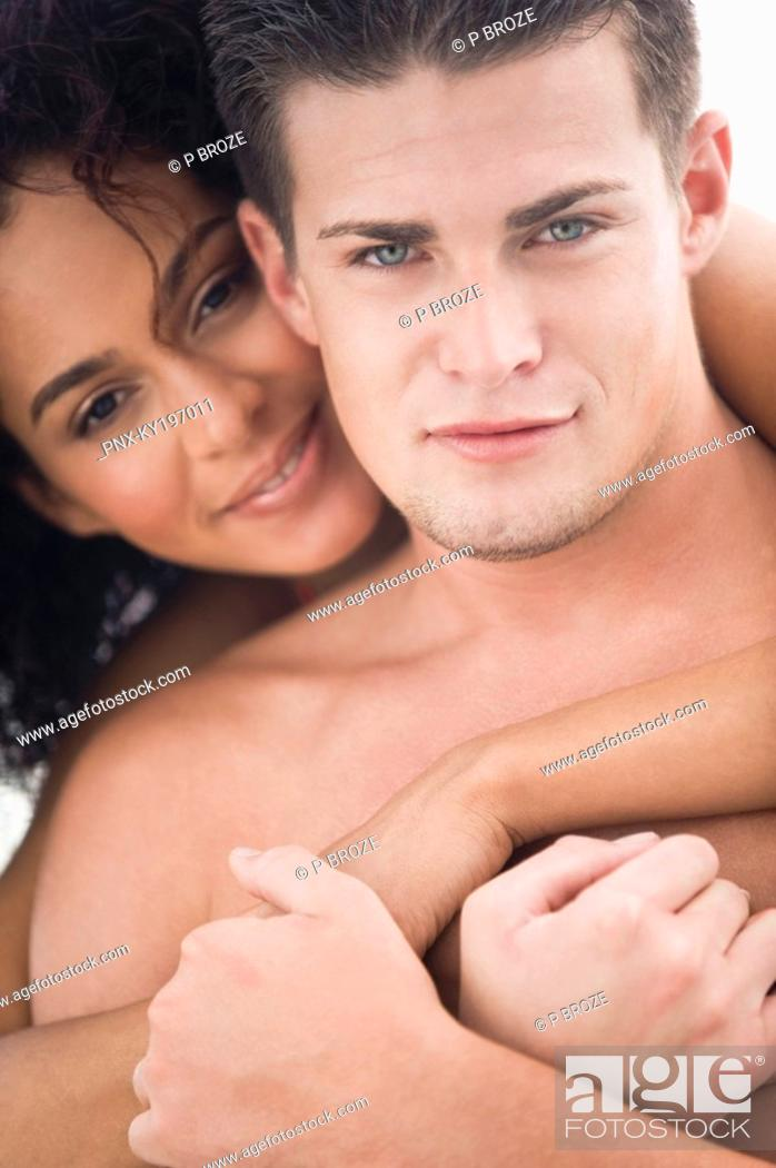 Stock Photo: Portrait of a couple romancing.