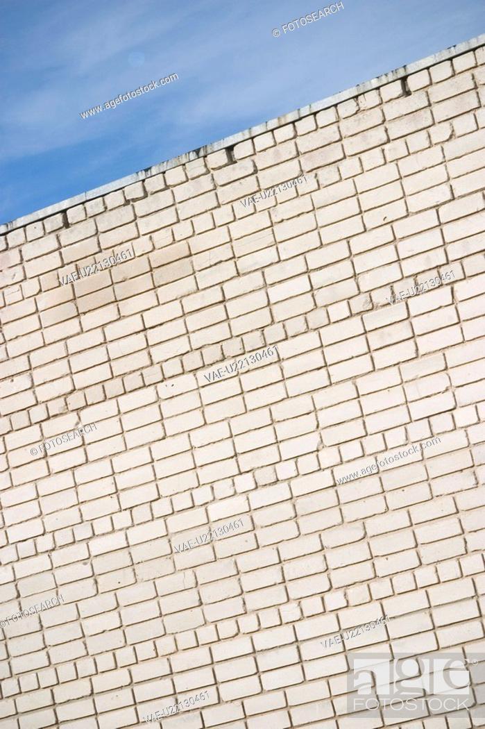 Stock Photo: Design, Brick, Day, Clouds, Brick Wall, Arrangement.